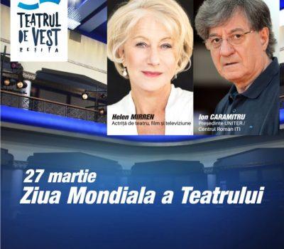Mesajul Internațional pentru Ziua Mondială a Teatrului 2021 – 27 martie